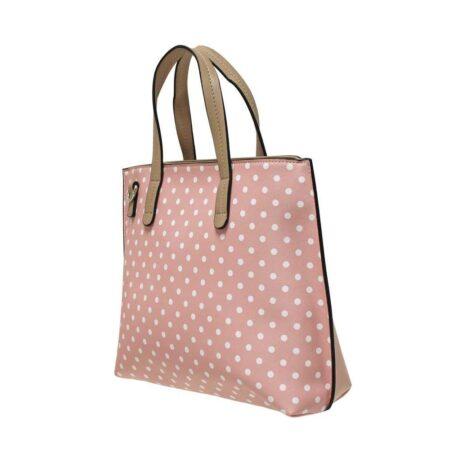 Envy Pale Pink Polka Dot Handbag