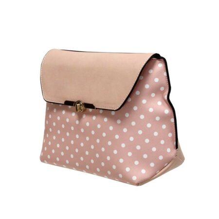 Envy Pale Pink Polka Dot Shoulder Bag