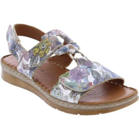 Adesso Liberty Floral Print Leather Sandals