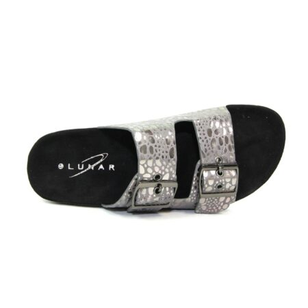 Lunar Kendal Grey Mule Sandals