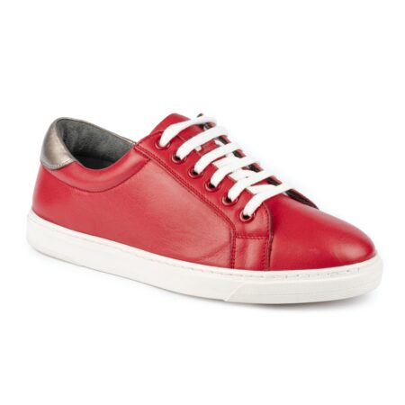 Lunar Veneto Red Leather Trainers