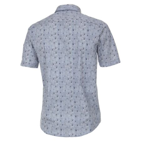 Casa Moda Blue Stripe Short Sleeve Shirt