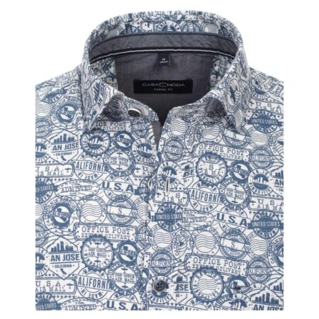 Casa Moda Short Sleeve America Shirt