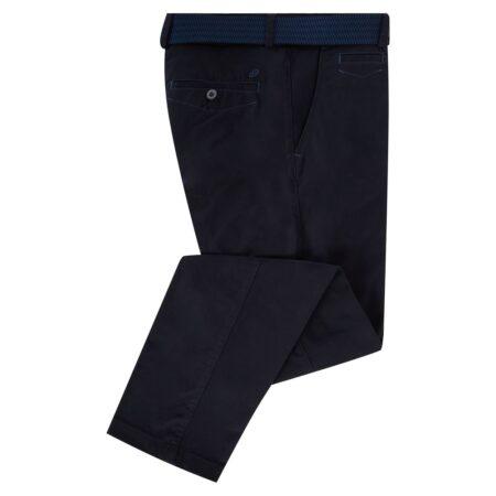 Douglas Navy Blue Cotton Trousers