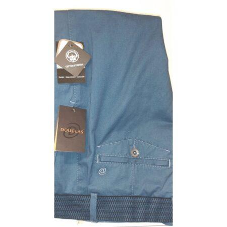 Douglas Mid Blue Cotton Trousers