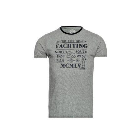 Baileys Grey Sailing Round Neck T-Shirt