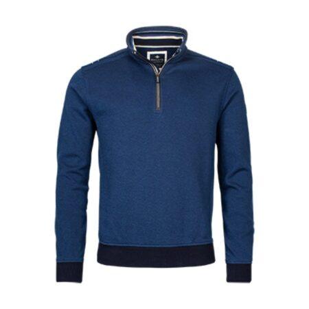 Baileys Blue Long Sleeve Zip Sweatshirt