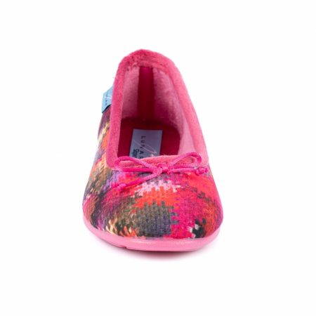 Lunar Brimstone Pink Print Full Slippers
