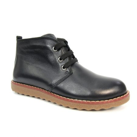 Lunar Claire Black Leather Ankle Boots