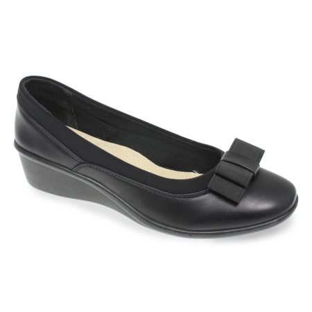 Lunar Deacon Black Wedge Shoes