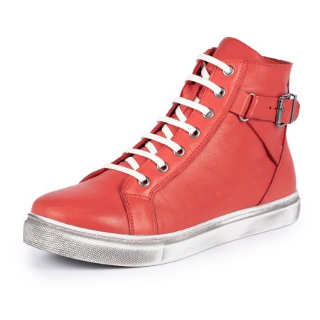 Lunar Jemma Red Leather Ankle Boots