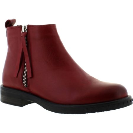 Adesso Mya Berry Leather Ankle Boots