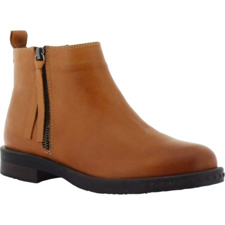 Adesso Mya Tan Leather Ankle Boots