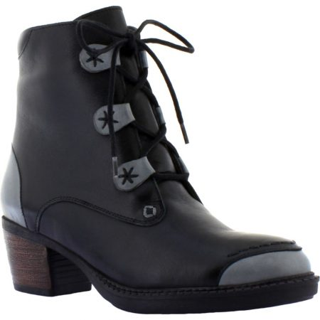 Adesso Remi Black Leather Ankle Boots