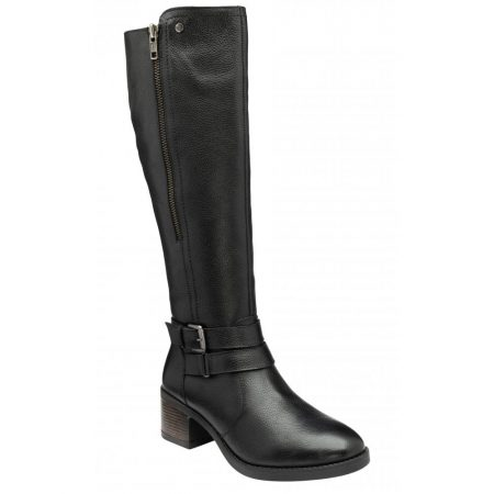 Lotus Jive Black Leather Knee High Boots
