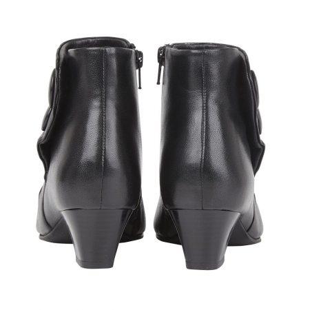 Lotus Prancer Black Leather Ankle Boots
