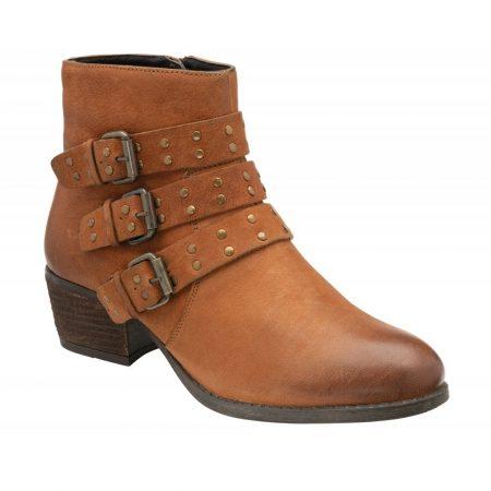 Lotus Emelia Tan Leather Ankle Boots