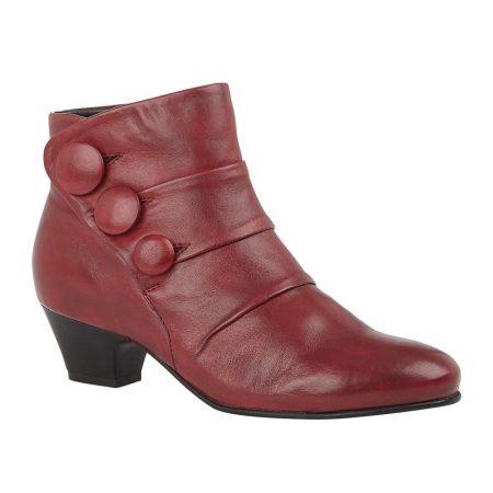 Lotus Prancer Bordo Leather Ankle Boots
