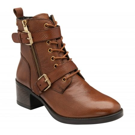 Lotus Melrose Tan Leather Ankle Boots